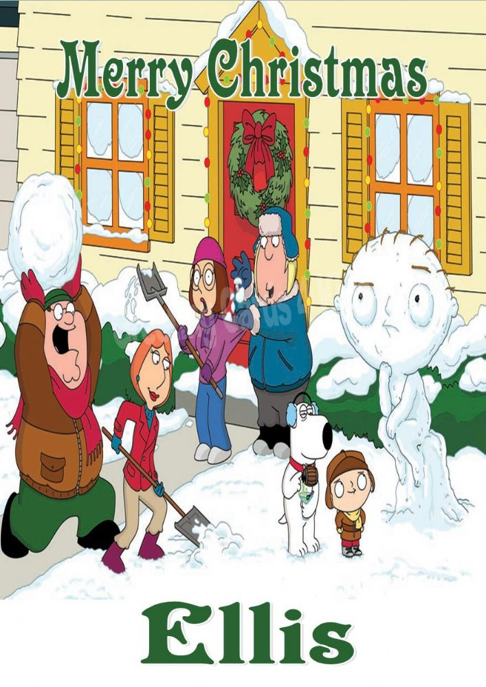 Personalised Family Guy Christmas Card